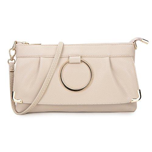 Damen Handgelenkstasche Schultertasche mit lange verstellbare und abnehmbare Armband schicke stilvolle Design Geldbörse Tasche