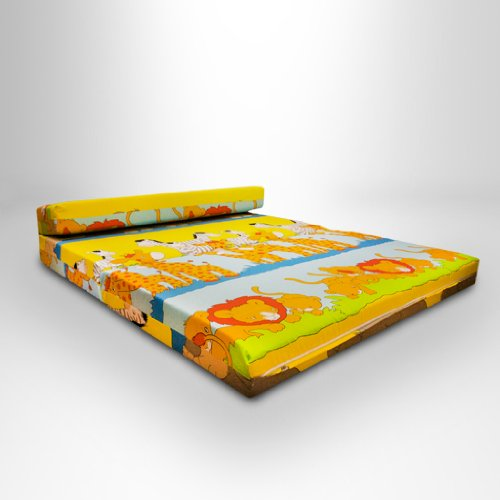 Ready Steady Bed Children's Savannah Fold-Out Z Bed Sofa, Double, Yellow