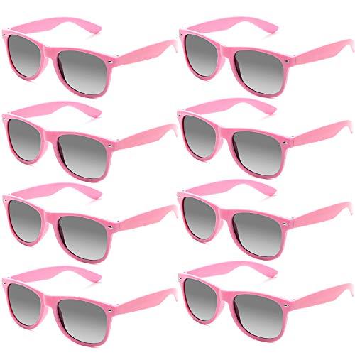 731cd0e31dd9d7 Fsmiling Neon Farben Party Gefälligkeiten Herzform Sonnenbrille Set für  Kinder Erwachsene (8 Stück Rosa)