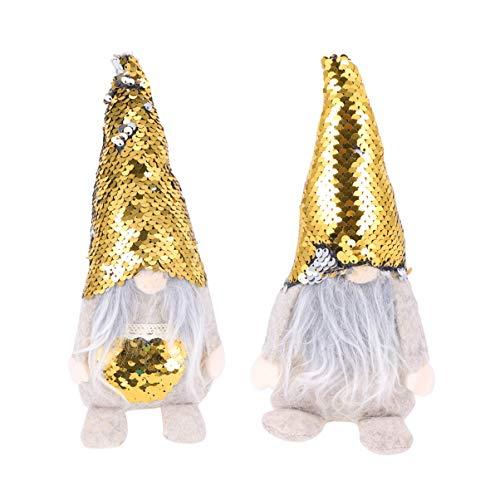 TOYANDONA 2 Piezas gnomo de Navidad muñecas de Peluche Colgantes creativos encantadores Colgantes Adornos...