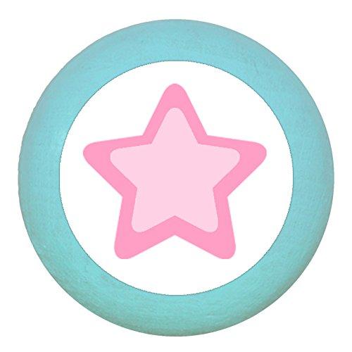 Traum Kind Möbelknopf Möbelgriff Möbelknauf Maedchen rosa pink weiß blau Massivholz Buche - Kinder Kinderzimmer