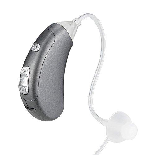 Hörgeräte VHP-902 TIn-Ohr-Digital Beste unsichtbare Klangverbesserung Gehörlose Lautstärkeregler Einstellbare Tone Aid Ear-Unterstützung für ältere Taube Hörverlust Hörgerät Batterie A13 , Silver (Hörgerät Mode)