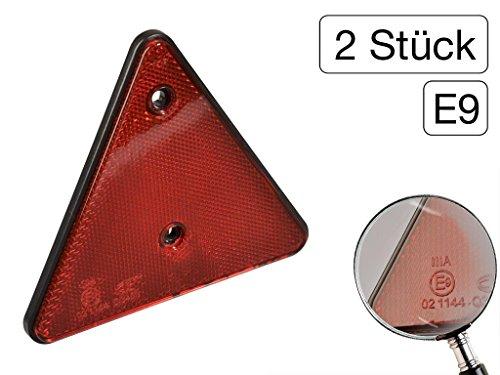 Preisvergleich Produktbild 2 Stück Rückstrahler Dreieck Rot