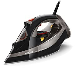 Philips Gc452687 Azur Performer Plus Steam Iron With 210 G Steam Boost, 2600 W - Black
