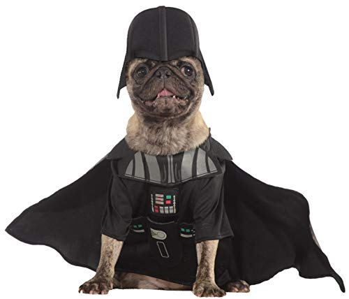 Rubie 's Offizielles Hunde-Kostüm, Darth Vader, Star Wars - Größ Medium (Star Wars Darth Vader Pet Kostüm)