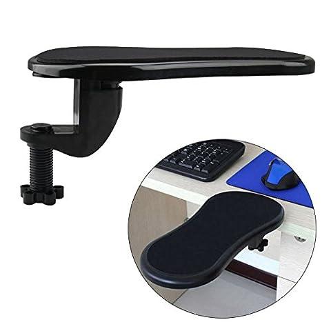 Cusfull Repose-bras réglable /Repose-Poignet Support Tapis de Souris pour soutenir le bras et le poignet lors de l'utilisation de la souris d'ordinateur Pour la maison & le bureau S'attache au bureau