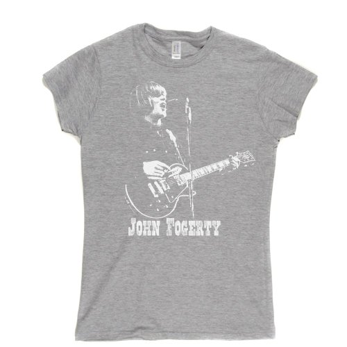 John Fogerty Womens Fitted T-shirt (sportsgrey/white large) -