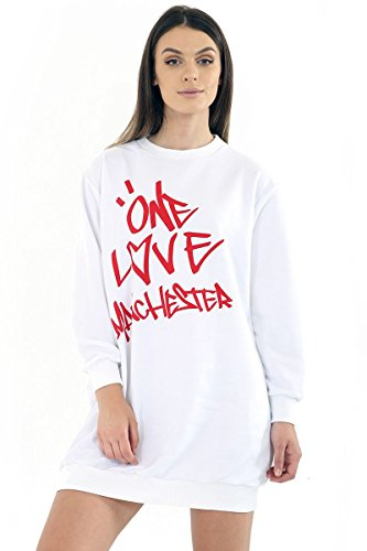 MISS BOHO CHIC -  Felpa  - Donna E One Love MCR - White