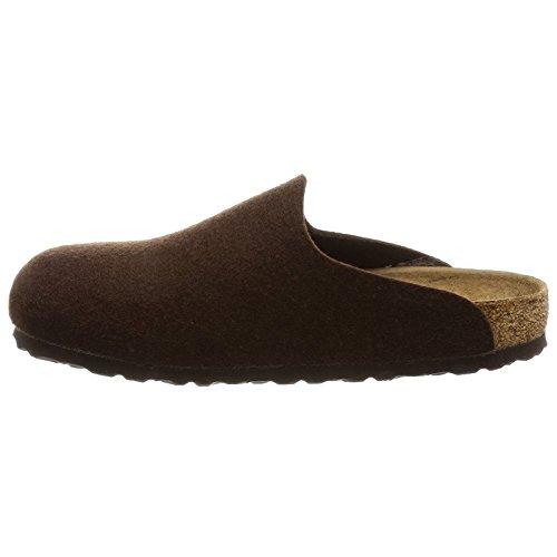 Birkenstock Womens Amsterdam Textile Sandals Dark Brown