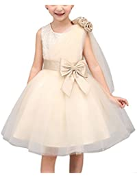 e9dfbfea5 Happy Cherry Vestido Traje de Fiesta sin Mangas Princesa Tutú Vestido con  Tul Lazo para Niñas