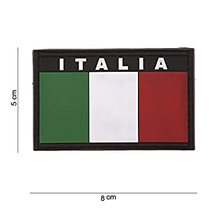 "Patch 3D PVC Drapeau Italien ""Italia"" / Cosplay / Airsoft / Camouflage"