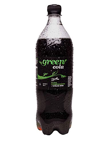 Green Cola - inkl.Pfand | 1L | natürliches Koffein | Grüne Kaffeebohne | ohne Zucker | Buxtrade | 24 Flaschen