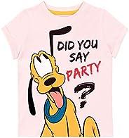 Disney Camiseta de Manga Corta para niñas Pluto