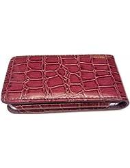 G4GADGET Étui portefeuille en cuir synthétique façon cobra avec 2porte-cartes pour iPhone4/4S Violet
