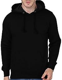 Men's Hooded Sweatshirt-360 (Black Colour)