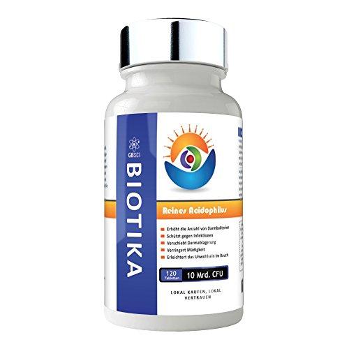 GBSci 10 60 Billionen CFU Acidophilus Biotika Vegan - Gluten Frei