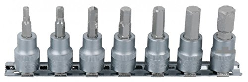 "Preisvergleich Produktbild KS Tools 911.1544 1/4"" Bit-Stecknuss-Satz Innensechskant, 7-tlg.2,5-8mm"
