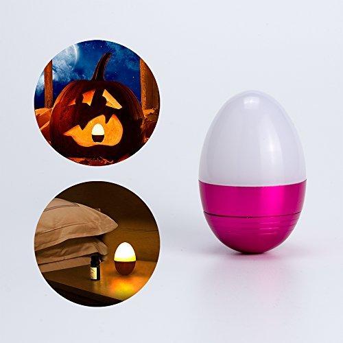 Mini LED Tisch Lampe Bettlampe Nachtleuchte Kinder Nachtlampe LED Nachttischlampe Schlummerleuchte Stimmungslicht für Schlafzimmer, Wohnzimmer Mini Tischlampe - Rot (In Der Halloween-nacht Vor Weihnachten)