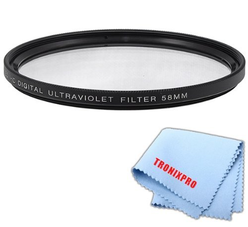 58mm Pro series Multi-Coated High Resolution Digital Ultraviolet Filter For Canon EF 100mm f/2.8 Macro USM Lens Canon EF 28mm f/1.8 USM Lens Canon EF 24mm f/2.8 IS USM Lens Canon EF-S 55-250mm f/4-5.6 IS II Lens Canon EF 70-300mm f/4.5-5.6 DO IS USM Lens  available at amazon for Rs.1857
