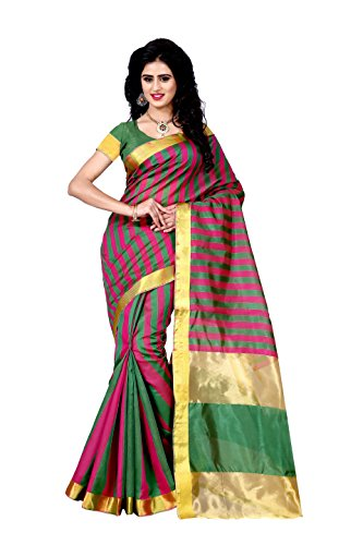Saree (Trendz Multi Color Tussar Cotton Silk Saree)  available at amazon for Rs.179