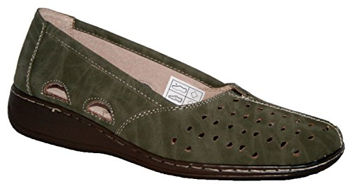 Donna Verde oliva Cushion Walk Slip On Estate Scarpe Verde - verde oliva (Olive)