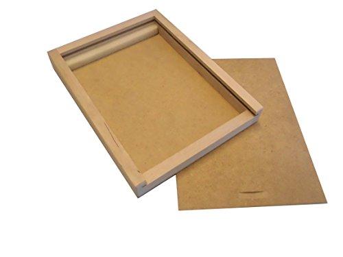 Holzschiebebox M, Holzbox für Buntstifte, Filzstifte und Pinsel LEER (passend für 12 Avantgarde...