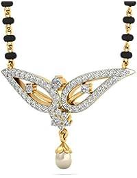 PC Jeweller The Zain 18KT Yellow Gold, Diamond & Pearl Pendant