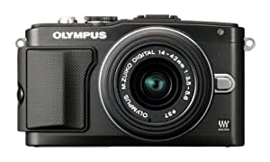 Olympus PEN E-PL5 Systemkamera (16 Megapixel, 7,6 cm (3 Zoll) Touchscreen, bildstabilisiert) Kit inkl. 14-42 mm Objektiv schwarz