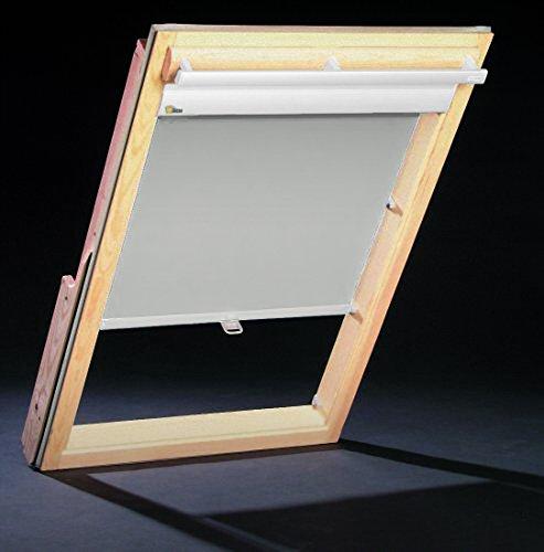 Dachfenster Thermo Rollos für Velux Fenster - Profilfarbe Weiß (auch mit silbernen Profilen erhältlich) - Sonnenschutz VL VK 085/087