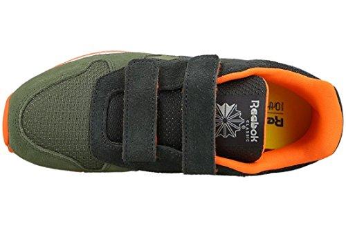 Reebok Bd2447, Scarpe da Trail Running Unisex, Bambini Verde (Hunter Green/Coal/Orange/Khaki/White)