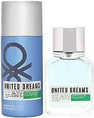United Colors of Benetton Dreams Man Go Far Set Contains Eau De Cologne And Deodorant For Men, Perfume 100 ml