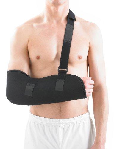 Neo-G–Esponja Super suave y transpirable Cabestrillo para brazo (negro) grado médico