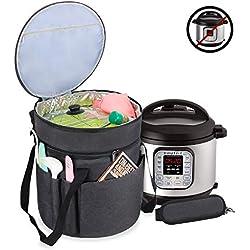 Luxja Tasche für Instant Pot IP-DUO60, Tragetasche für 6 Liter Elektrische Schnellkochtöpfe und Zubehör, Schwarz