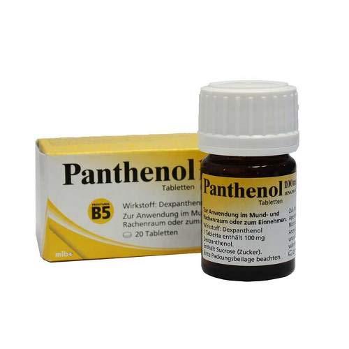 Panthenol 100 mg Jenapharm, 20 St. Tabletten -