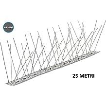 Dissuasori per volatili anti piccioni 80 punte Acciaio inox AISI 304 flessibile scatola da 25 pezzi