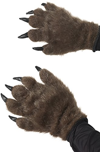 Smiffy's Hairy Claw Hands - Brown, Adult