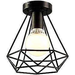 Soporte de lámpara de Techo GBOTTOM Geometría de Montaje Empotrado Vintage Base de luz Hueca Accesorio Estilo de Pueblo de Estilo Americano para E27