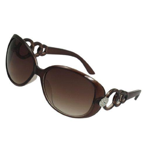 Umrandeten Farbverlauf Objektiv anschließen Ringe Decor Sonnenbrillen für Damen