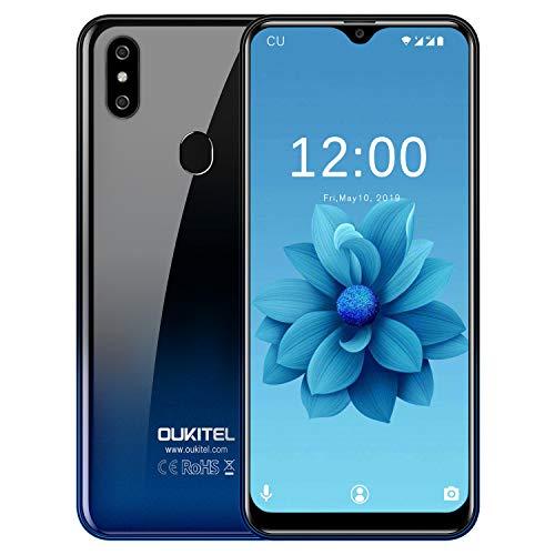 """OUKITEL C15 Pro (3+32GB) - 4G LTE Smartphone Ohne Vertrag Handy 2020 Android 9.0-6,1"""" 19:9 Wassertropfen Bildschirm, 3200mAh Akku, 2.0GHz, 2.4G/5G WiFi, Dual SIM Face ID + Fingerabdruck"""