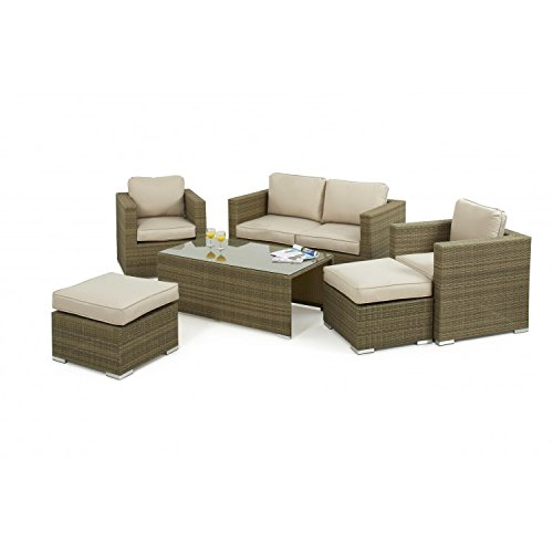 Sienne Dallas Baby Rattan Garden Furniture Sofa Set Garden Rattan Furniture