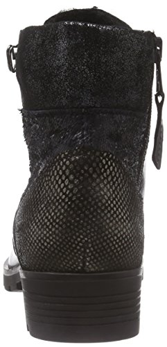 Mjus 584204-0201-0001, Bottes Classics courtes, doublure chaude femme Noir - Schwarz (nero+lontra+nero+inox)