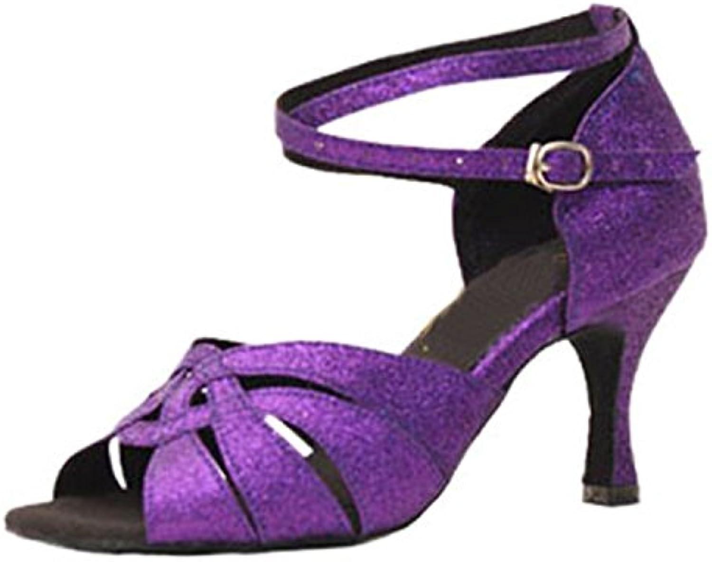 BYLE Sandali di Cuoio Cinturino alla Caviglia Samba Jazz Moderno Scarpe da Ballo Estate Latino per Adulti Scarpe... | Prezzo speciale  | Maschio/Ragazze Scarpa