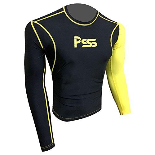 Prime Sports Herren Sweatshirt Schwarz Schwarz 809-Black-Yellow