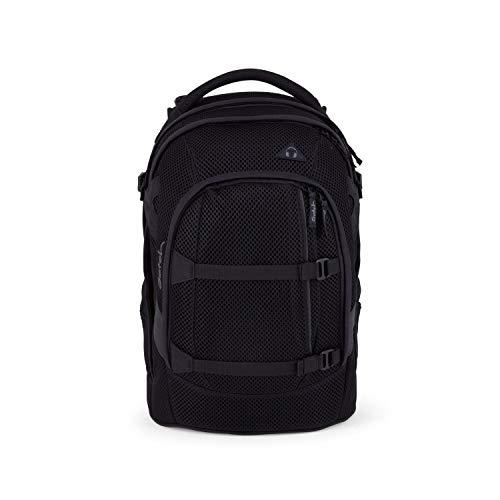 Satch Pack Onyx Meshy, Limited Edition 2.0, ergonomischer Schulrucksack, 30 Liter, Organisationstalent, Schwarz