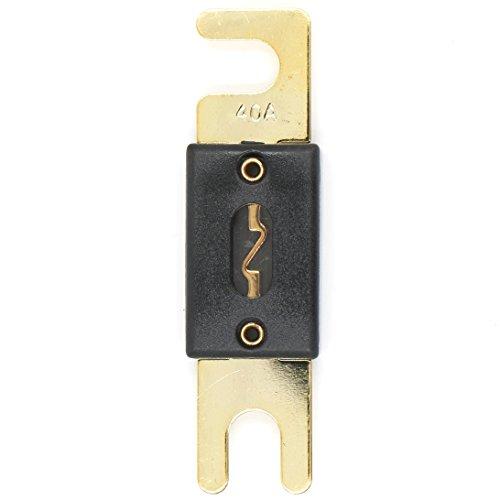 Heschen ANL FUSE Anl-40 40 Amp pour auto Véhicules Système audio Feuille Doré et Noir Lot de 2