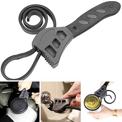 Tools for Home Nützliche Kits 500 mm Multitool Schraubenschlüssel Gummi Band Verstellbarer Schraubenschlüssel Öffner Auto Reparatur Werkzeug - Grau