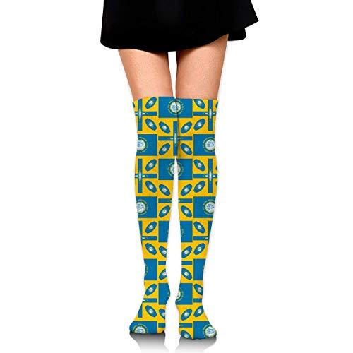 dfegyfr South Dakota Women's Knee High Socks Fancy Design, Best for Running, Athletic Sports,Yoga. (Billig Halloween Fancy Kleid)