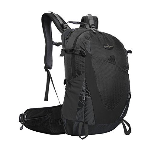 Zaino outdoor alpinismo/Zaino trekking grande impermeabile/zaino da viaggio-giallo 28L Nero
