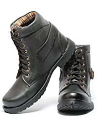 Pede Milan Shoes No-203 Synthetic Leather Boots for Men