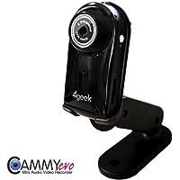 Videocamera Digitale Cammy Evo - Il più piccolo Registratore Audio/Video/Foto di Alta Qualità in Commercio! - Funzione WebCam - MicroSD - Attivazione Vocale - Batteria Intercambiabille - KHM1